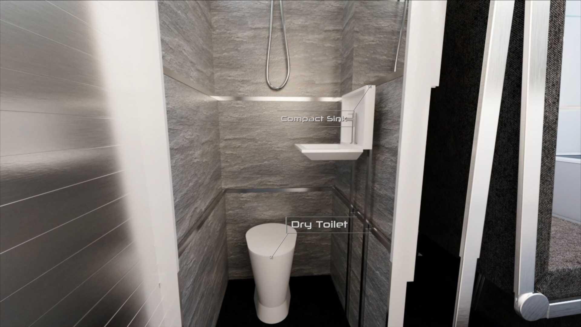 Ванна кімната з туалетом та душем