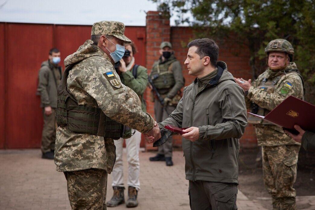 Володимир Зеленський на Донбасі