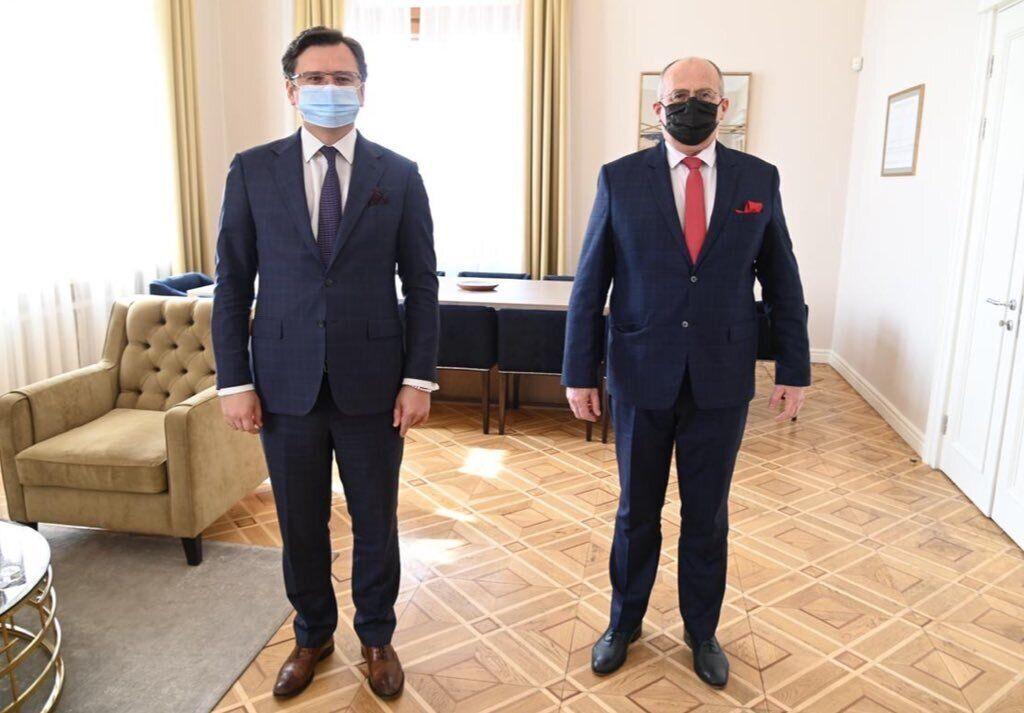 Дмитро Кулеба і Збігнєв Рау