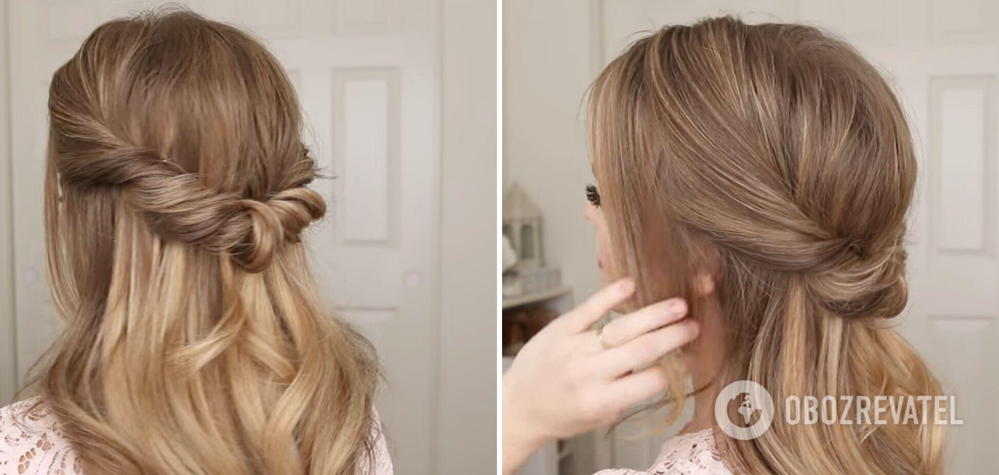 Зачіска в романтичному стилі підійде на будь-яку подію.
