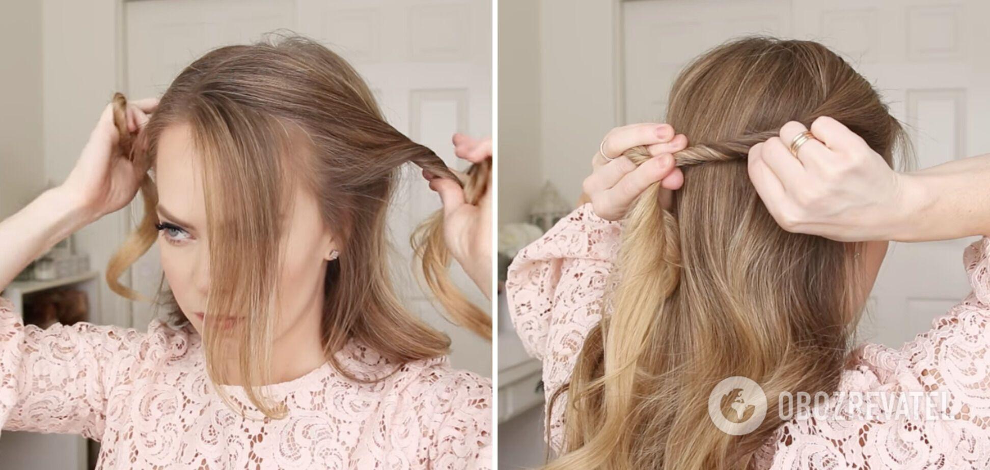 Зачіска в романтичному стилі пасуватиме під сукню