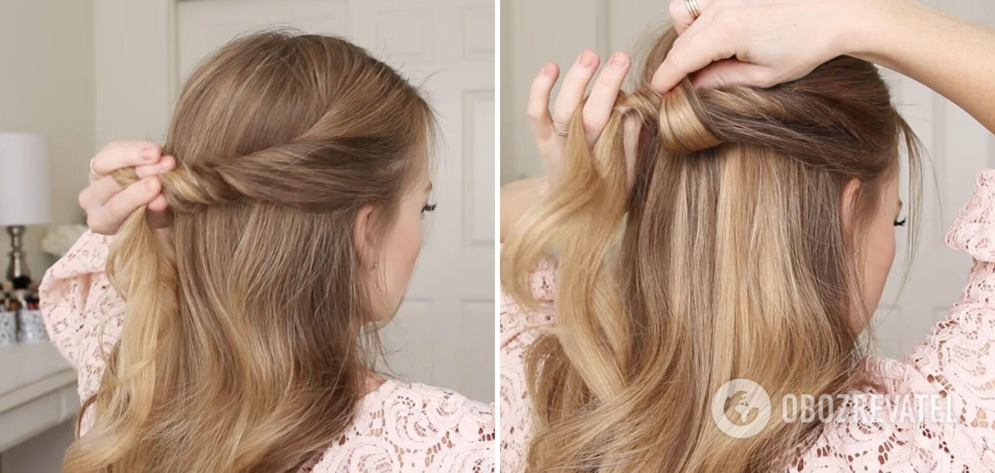 Щоб зробити цю зачіску вам знадобиться кілька хвилин