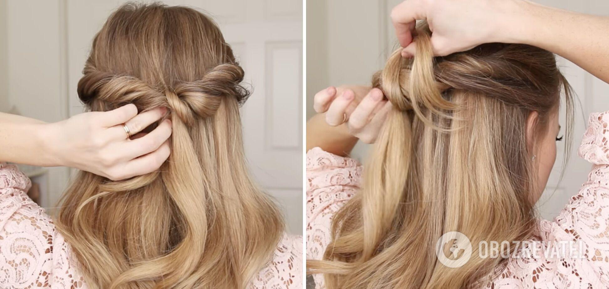 Ніжна зачіска підійде на довге та середнє волосся