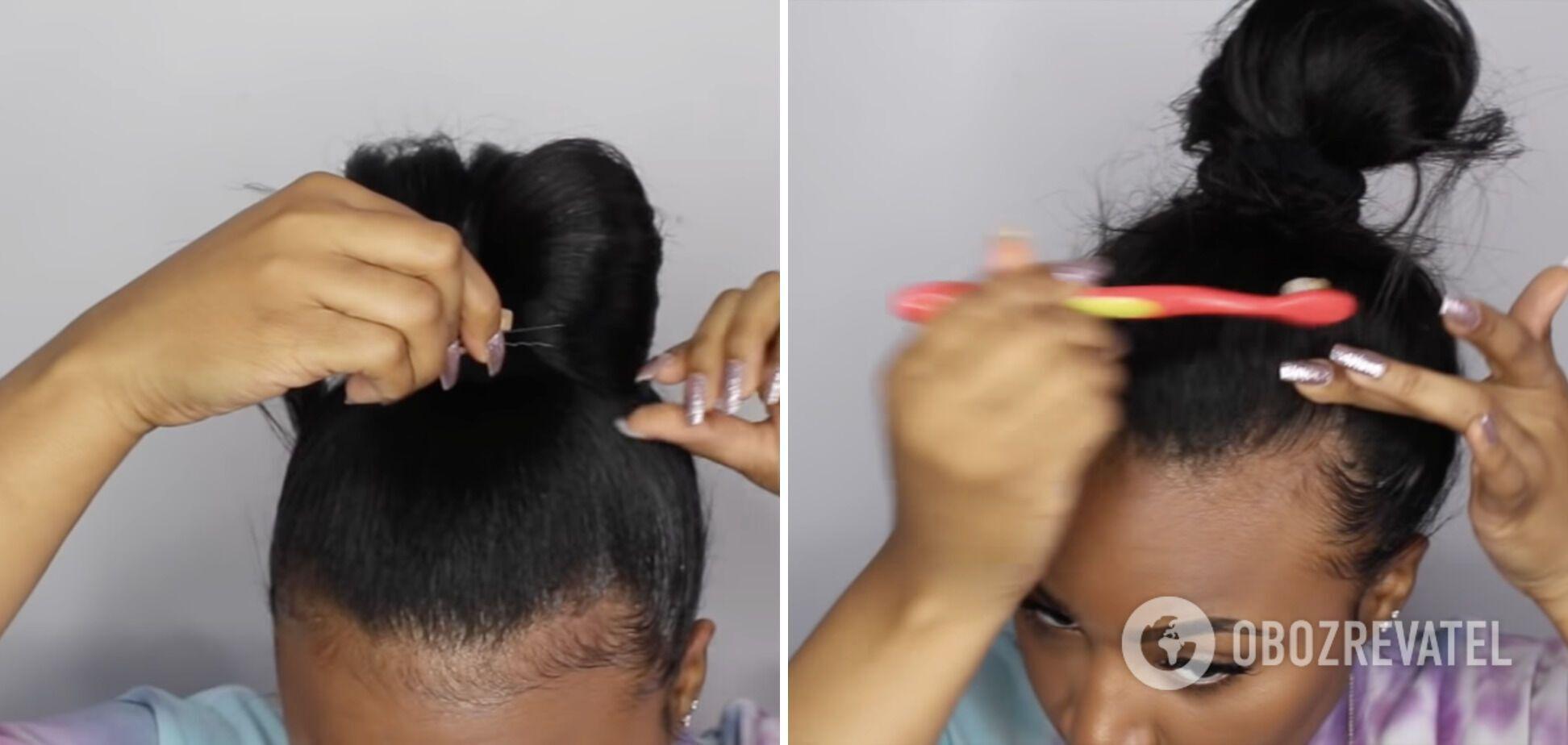 За кілька хвилин можна зробити стильну зачіску