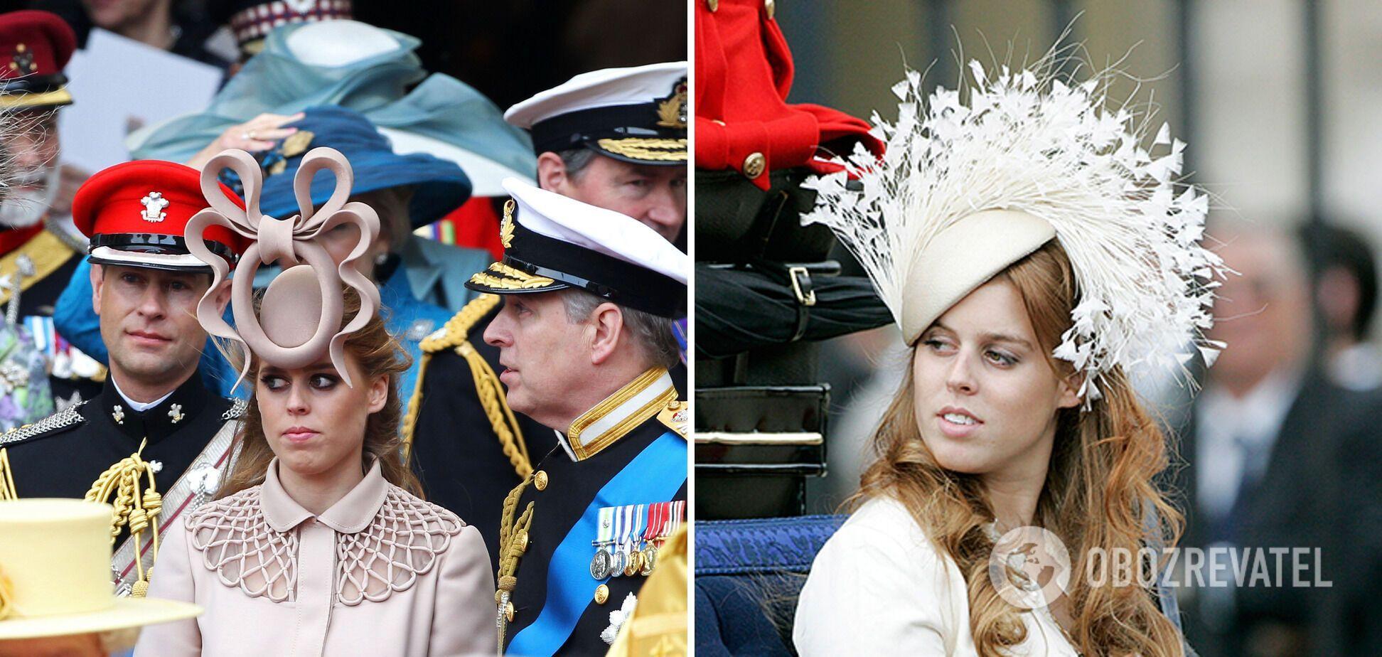 Принцесса Беатрис часто одевает экстравагантные шляпы.