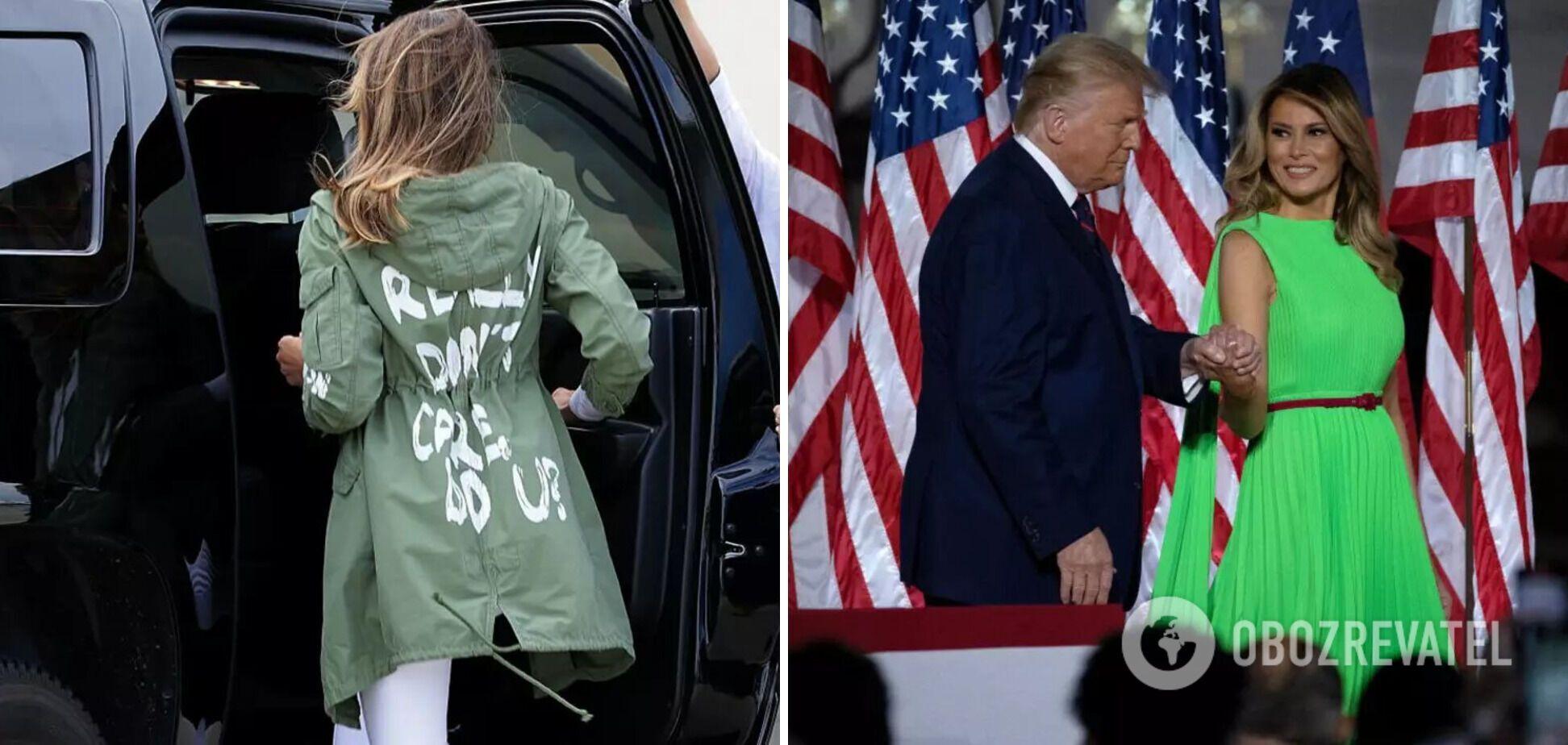 Мелания Трамп не раз надевала неуместные наряды.