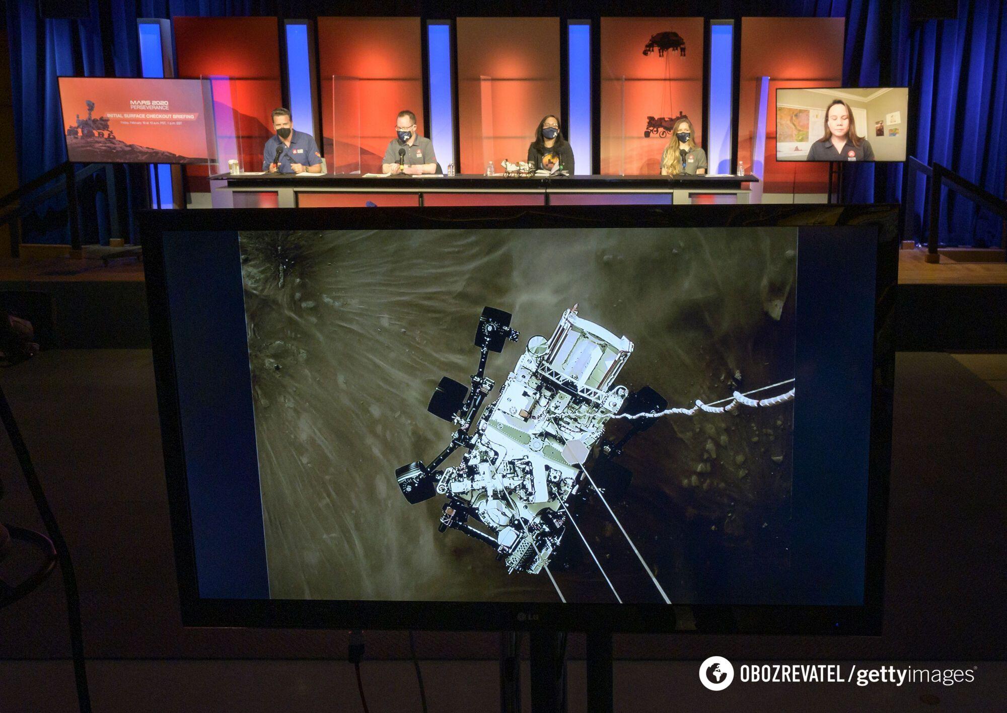 Конференция после высадки Perseverance на Марсе
