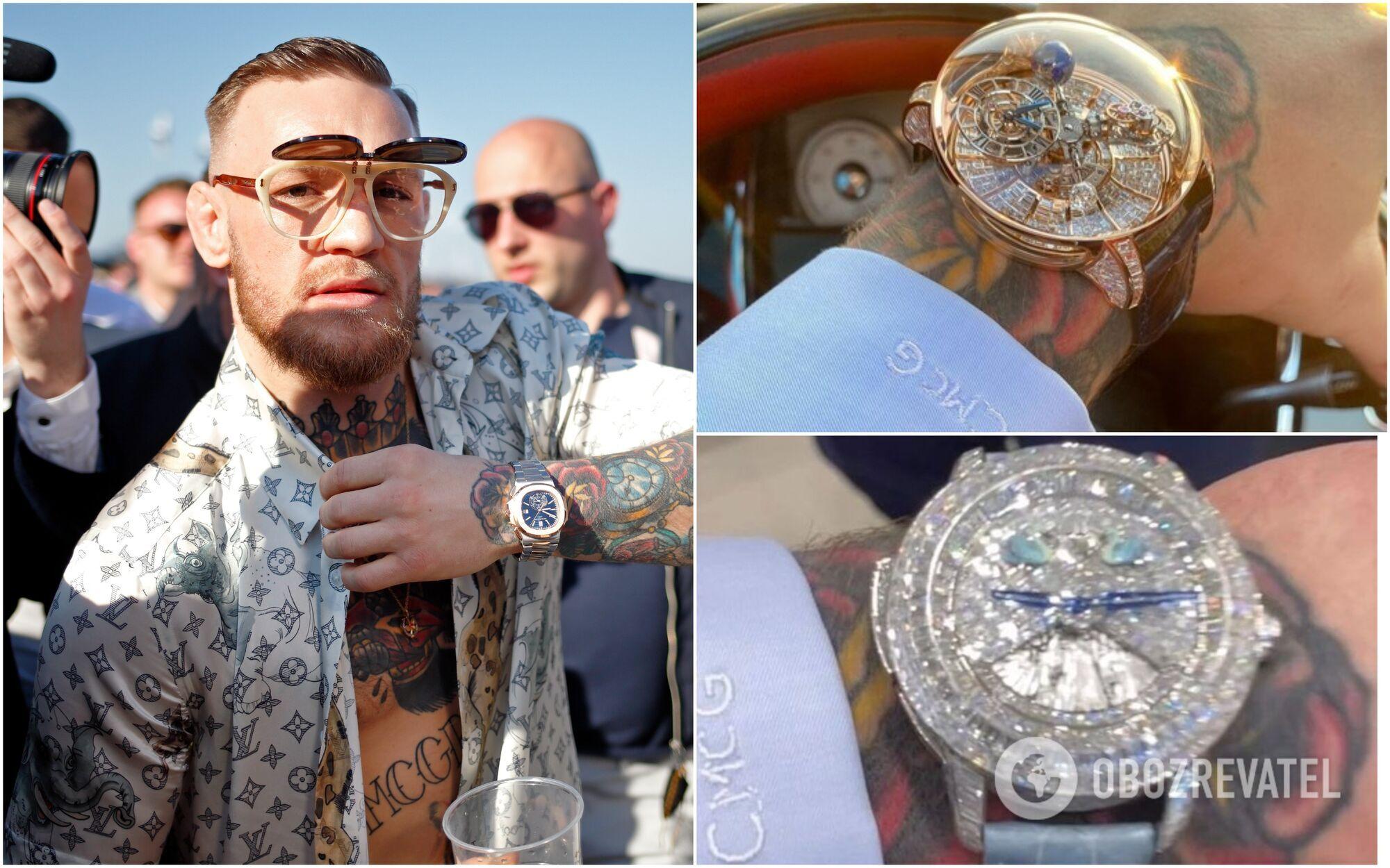 Конор Макгрегор обожает часы с бриллиантами и необычными деталями