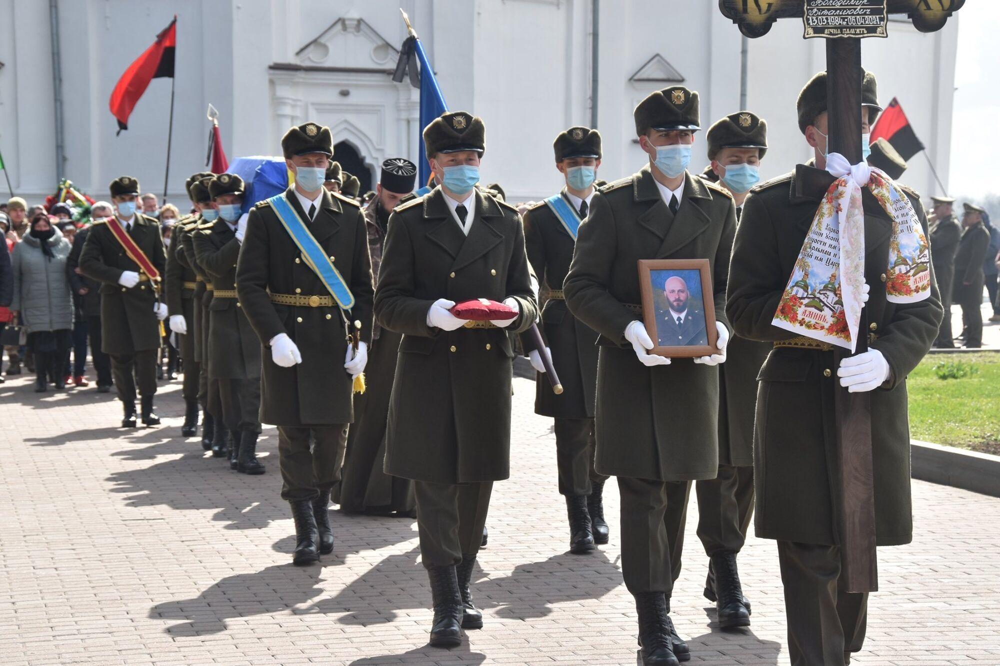 Жалобна процесія на похороні Шпака