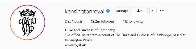 Кенсингтонский дворец также поменял фото в профиле Instagram