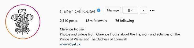 Кларенс-хаус установил в аккаунте свой герб