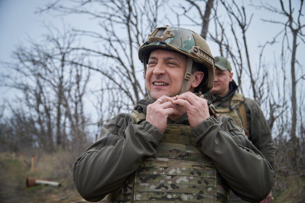 Зеленський відвідав позиції на передньому краї оборони