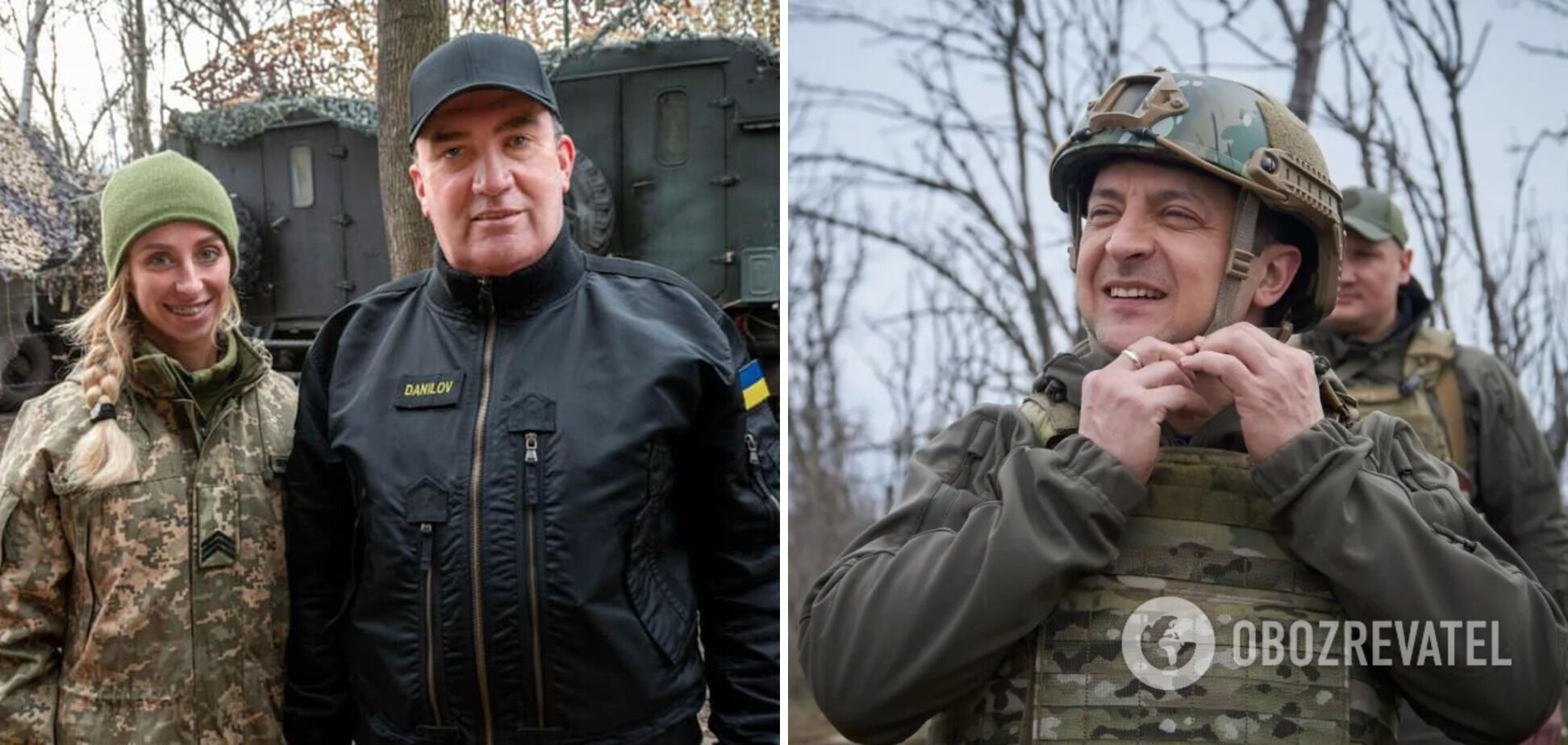 Данилов и Зеленский на Донбассе.