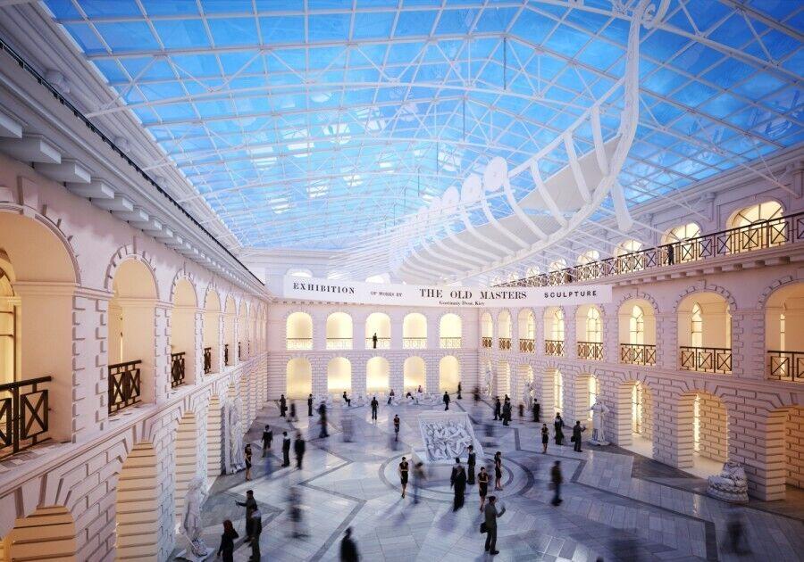 Проект внутреннего двора Гостиного двора после реконструкции.