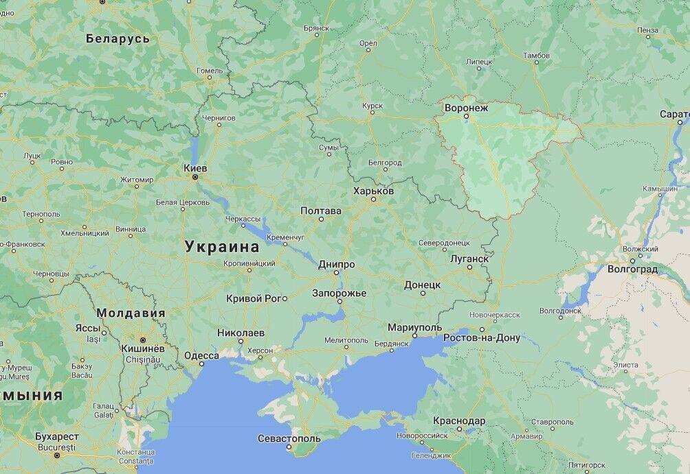 Воронежская область граничит с Украиной.