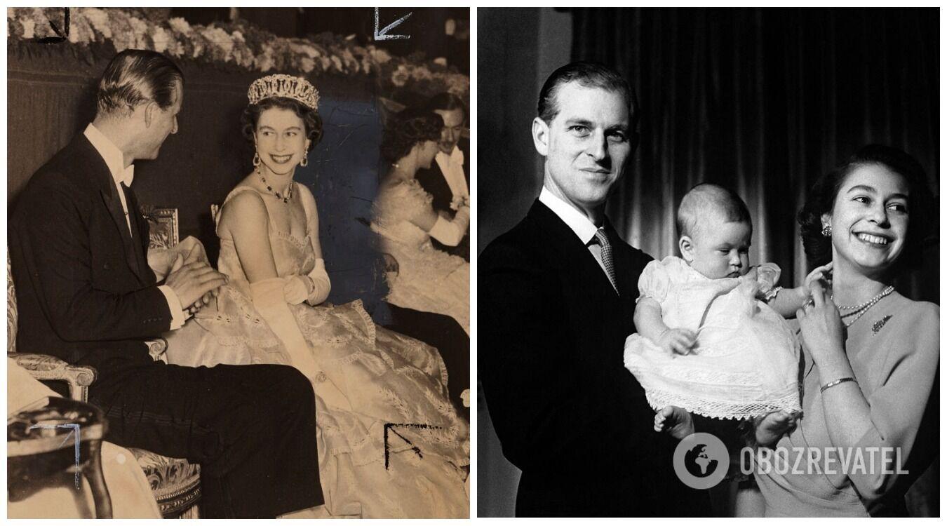 Первые годы брака Елизаветы и Филиппа ознаменовались коронацией и рождением принца Чарльза