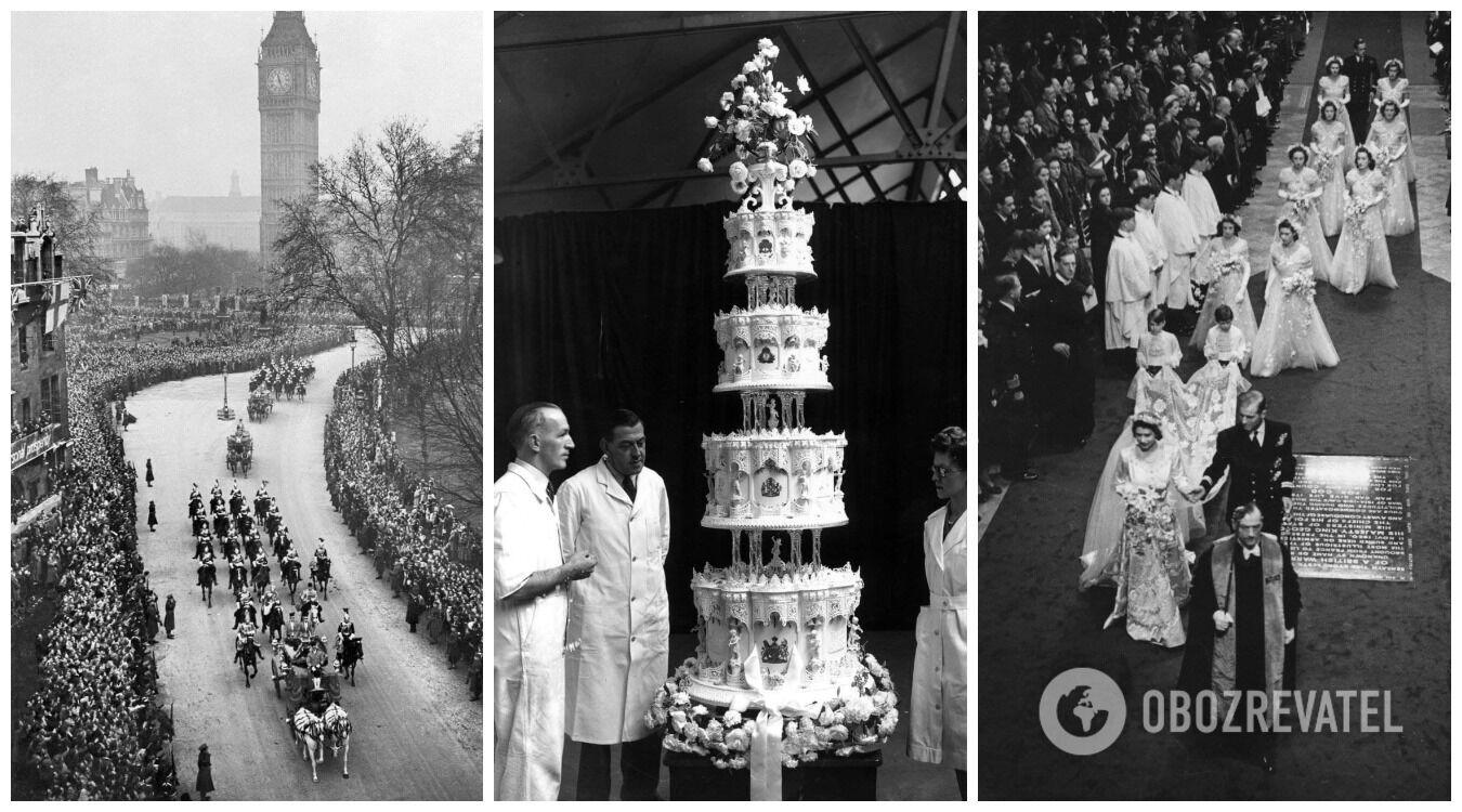 Изначально монаршая семья не хотела устраивать пышную свадьбу, но измученный Второй мировой войной народ требовал праздника