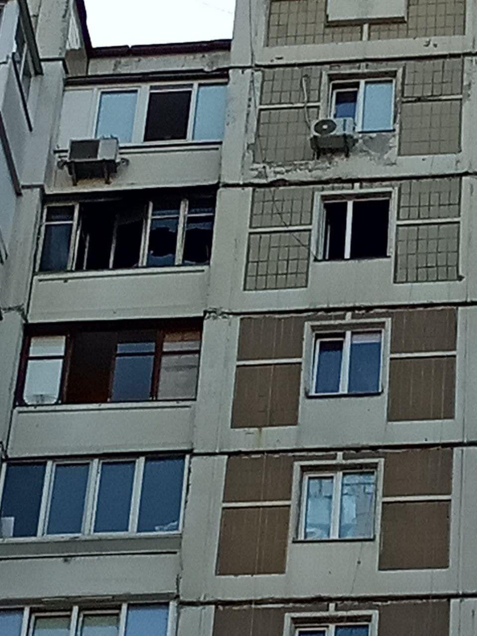 Окно квартиры, где произошло возгорание