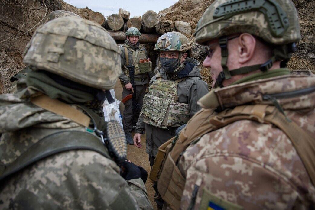Президент Володимир Зеленський із робочою поїздкою на Донбасі, 8 квітня 2021 року