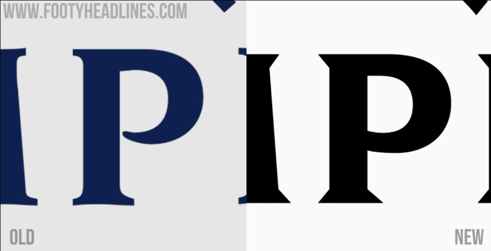 Шрифт в старом и новом логотипе ЛЧ(слева направо)