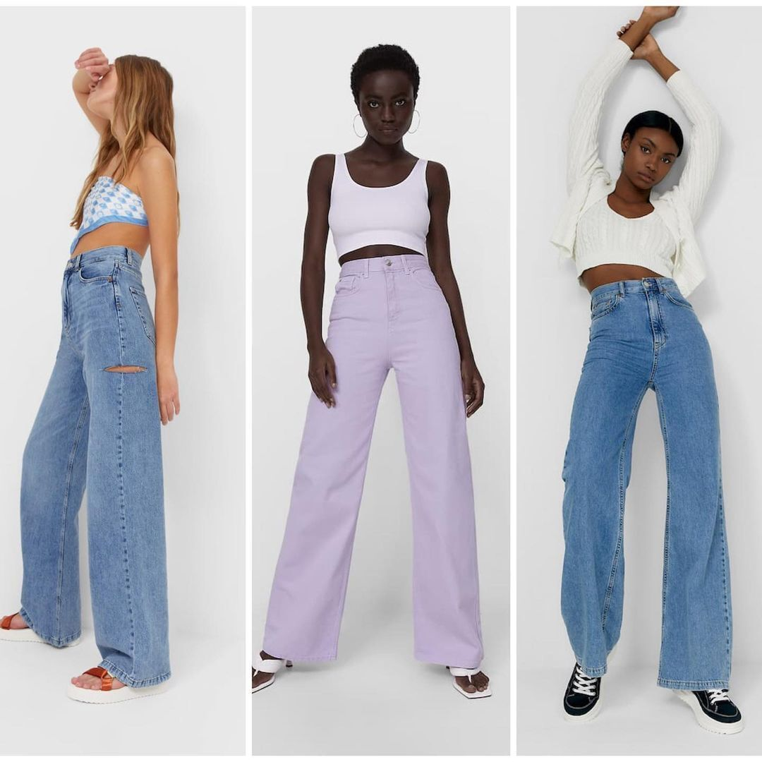 Широкі джинси знову повернулися в моду
