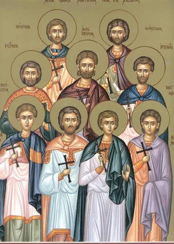 Девять мучеников Кизических проповедовали в Кизике