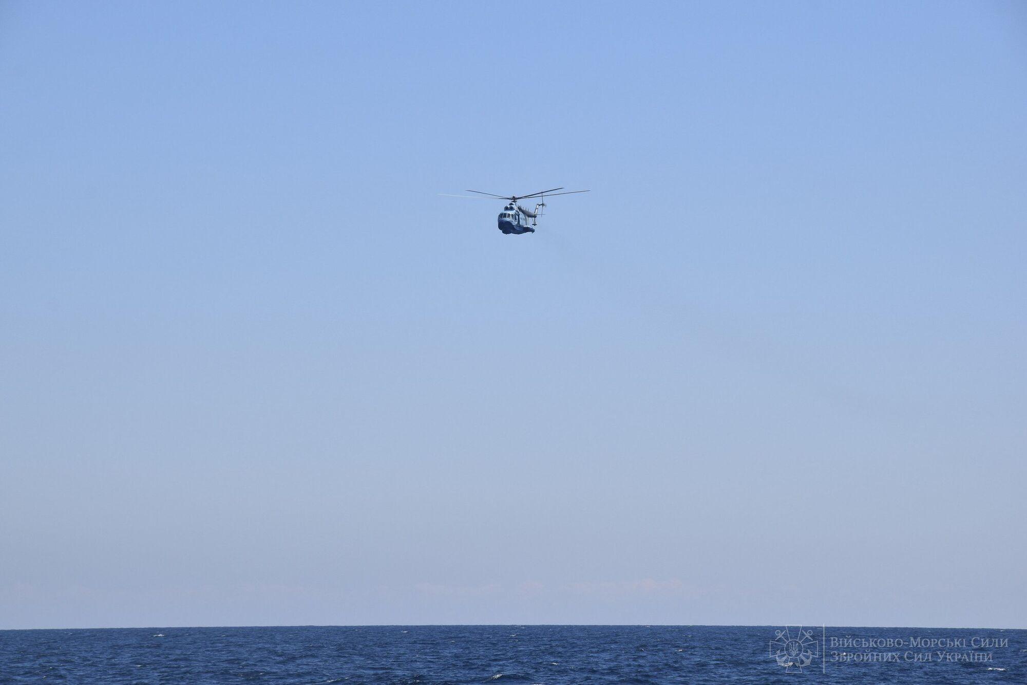Гелікоптер Мі-14 ВМС ЗСУ брав участь у навчаннях