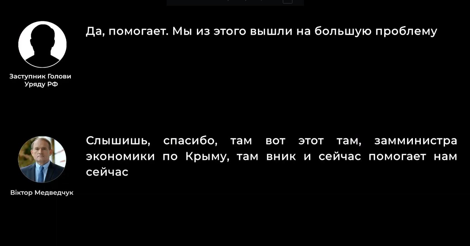 Переговоры якобы Медведчука с представителем правительства РФ.