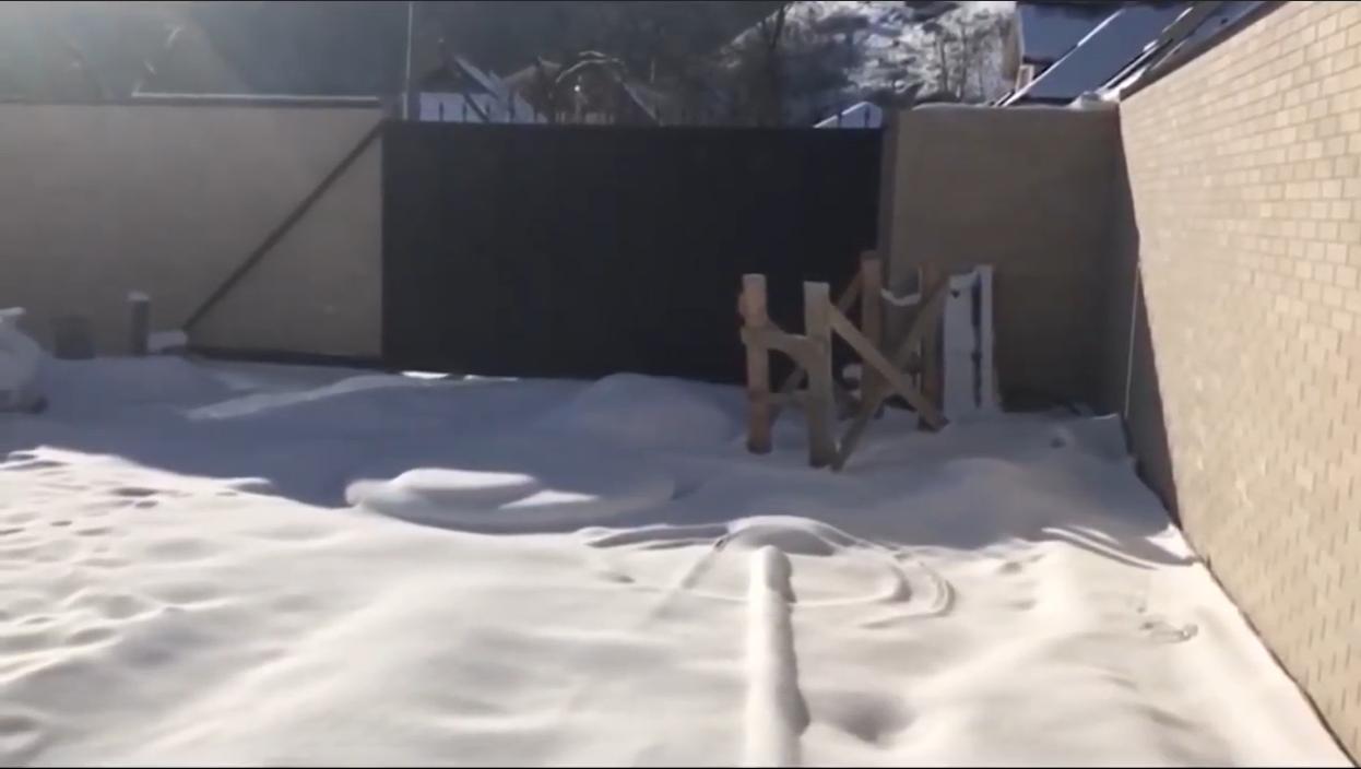 Ворота на территорию особняка Саакашвили под Киевом