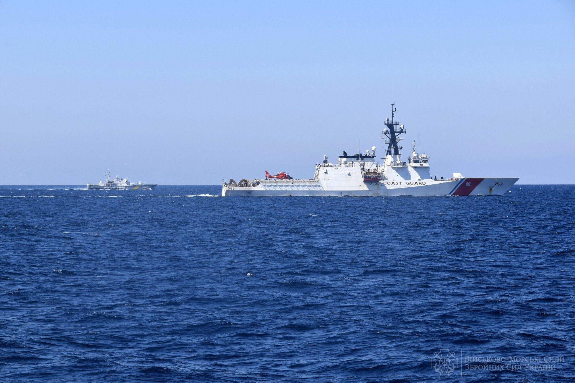У тренуванні PASSEX взяли участь судна ВМСУ, ДПС та американських партнерів