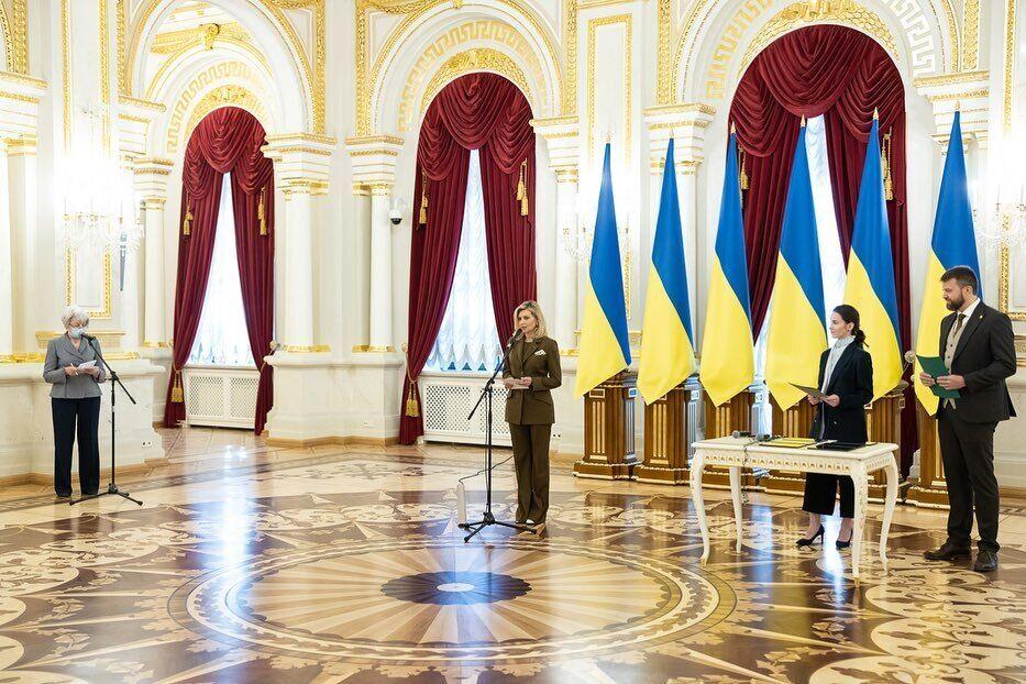 Елена Зеленская посетила Мариинский дворец