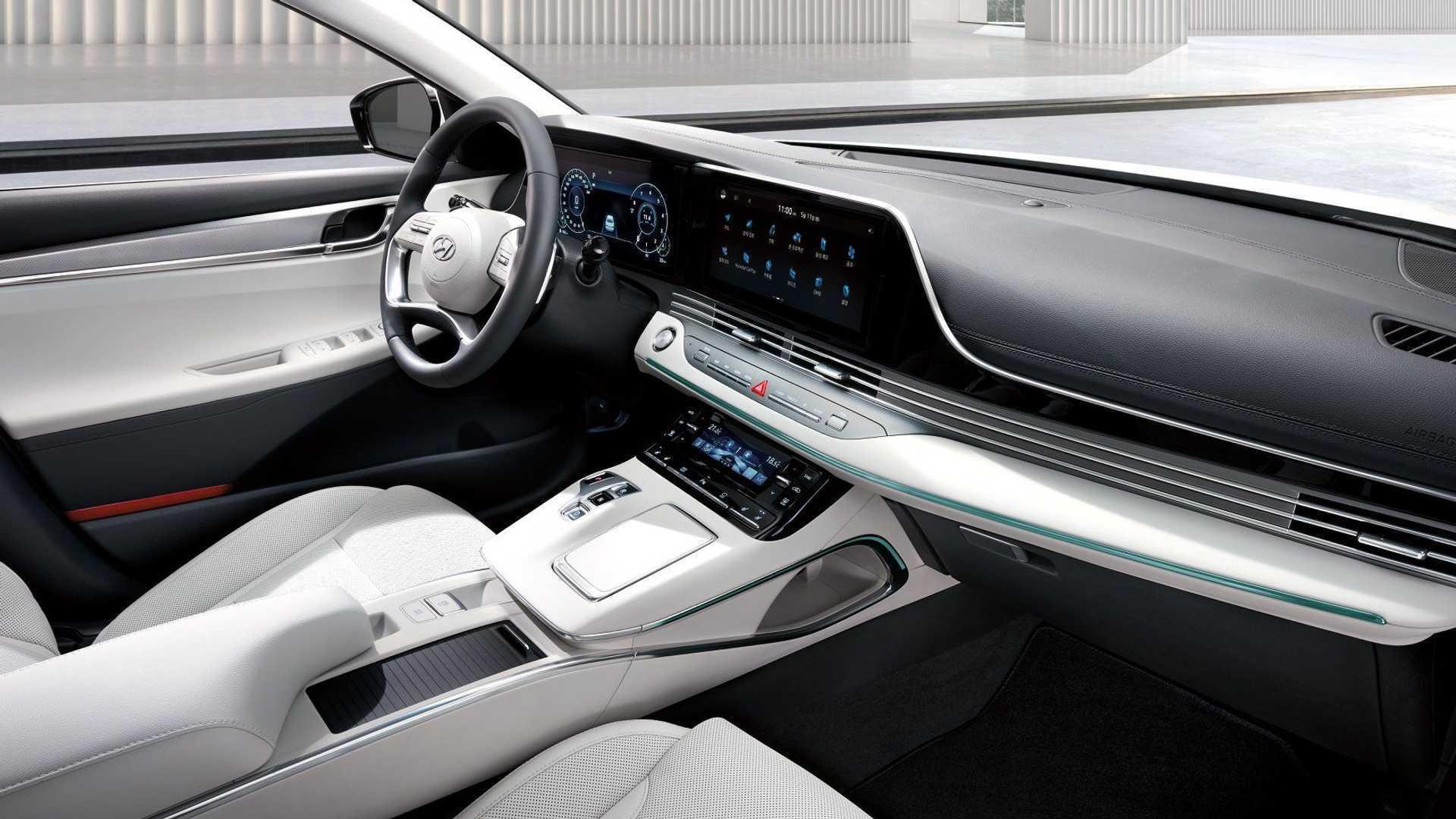 Белый салон Hyundai Grandeur Le Blanc