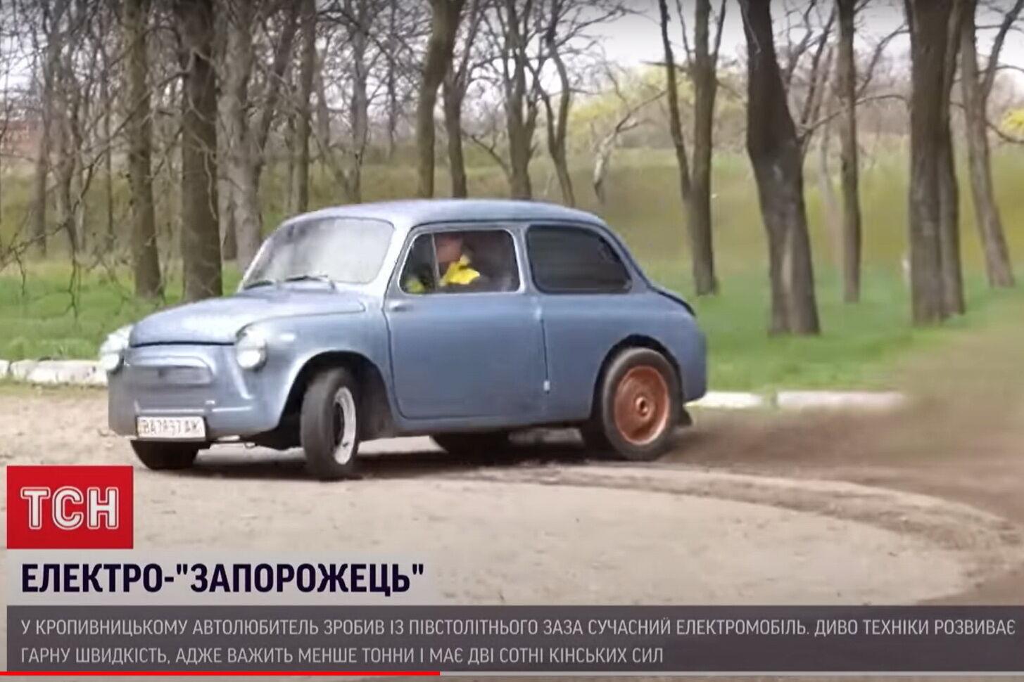"""Легкий (800 кг) электрической """"ЗАЗ"""" располагает 200 лошадиными силами"""