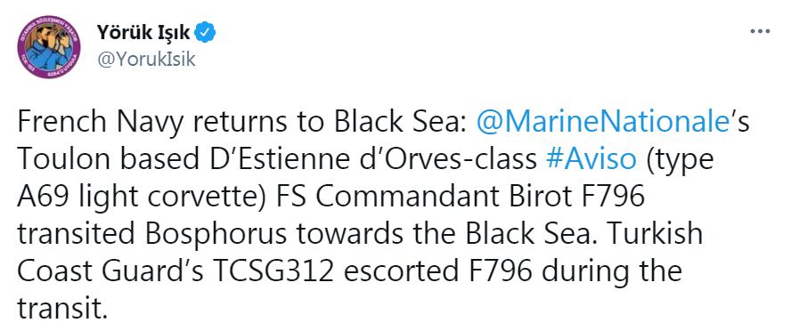 Корвет Франції в Чорному морі