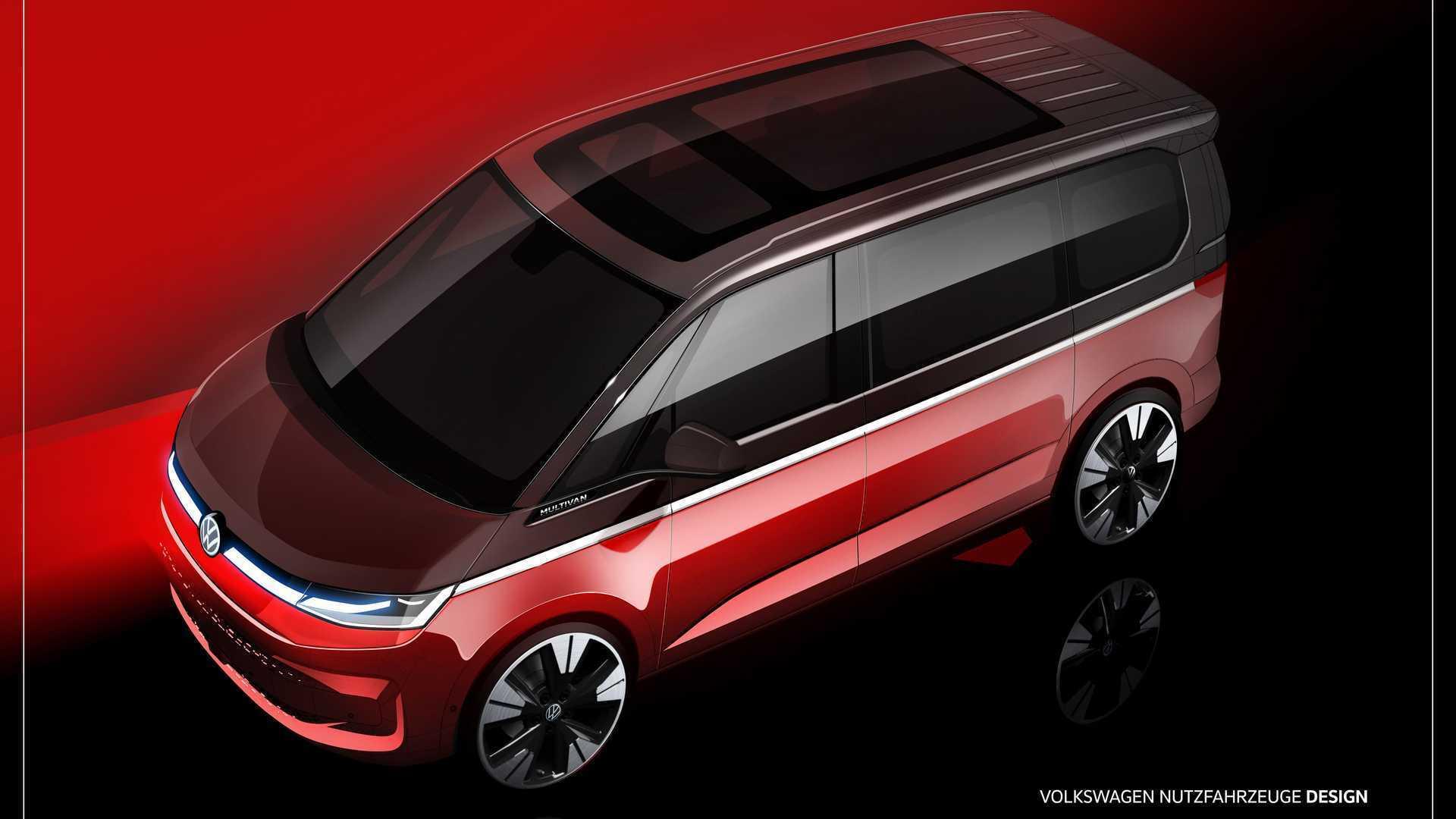Внешний вид Volkswagen T7 Multivan