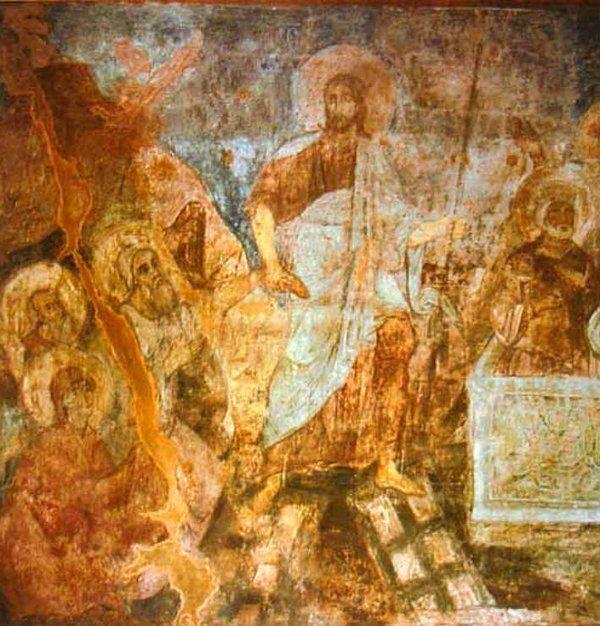 Фреска со спуском Христа в ад в Софийском соборе