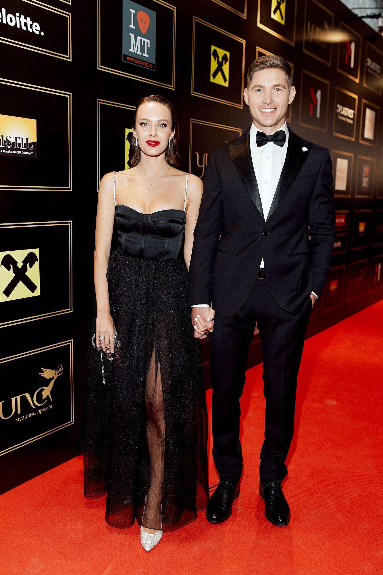Остапчук с женой на украинской премии YUNA
