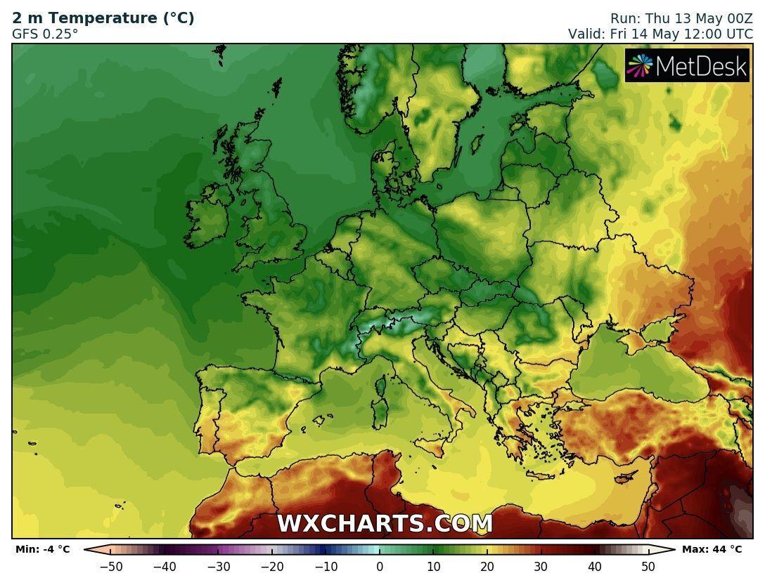 14 травня на сході України потепліє до +28 градусів