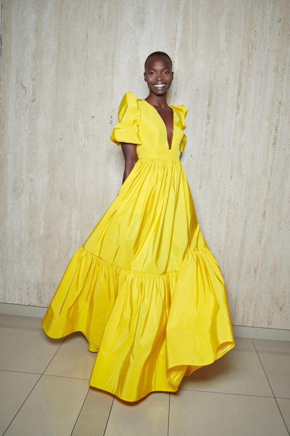 Модное желтое платье от Greta Constantine