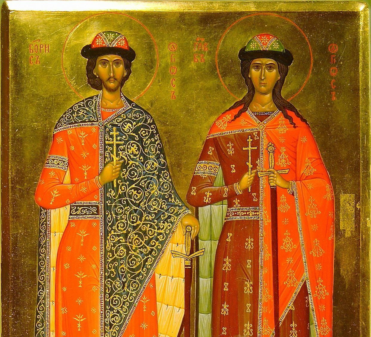 15 травня відзначається день пам'яті князів Бориса і Гліба.