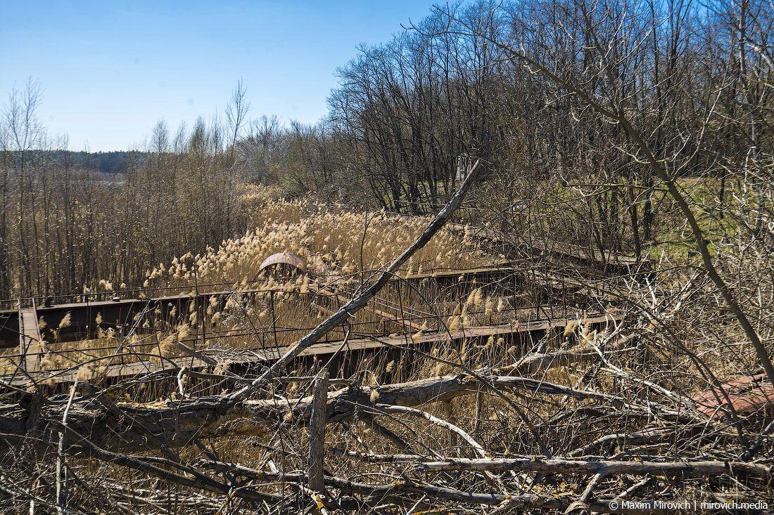 Во времена работы ЧАЭС уровень воды в пруду был на семь метров выше, чем в речке Припять