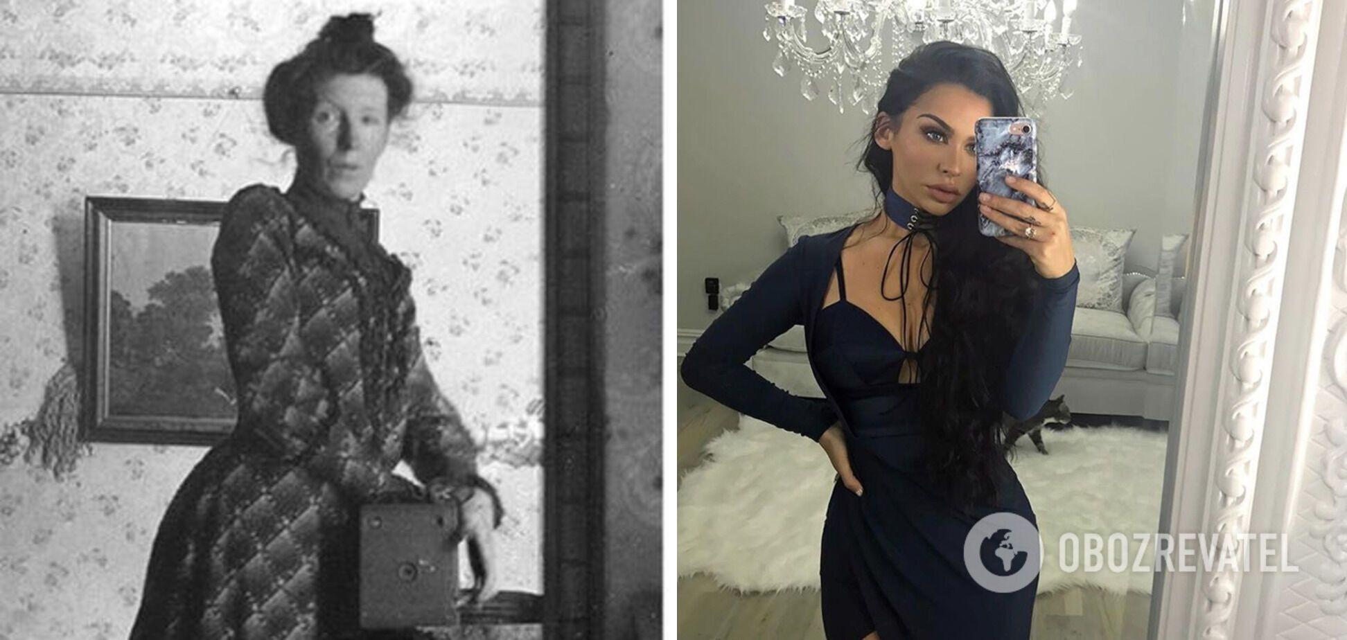 Мода на селфи в зеркале появилась не в XXI веке