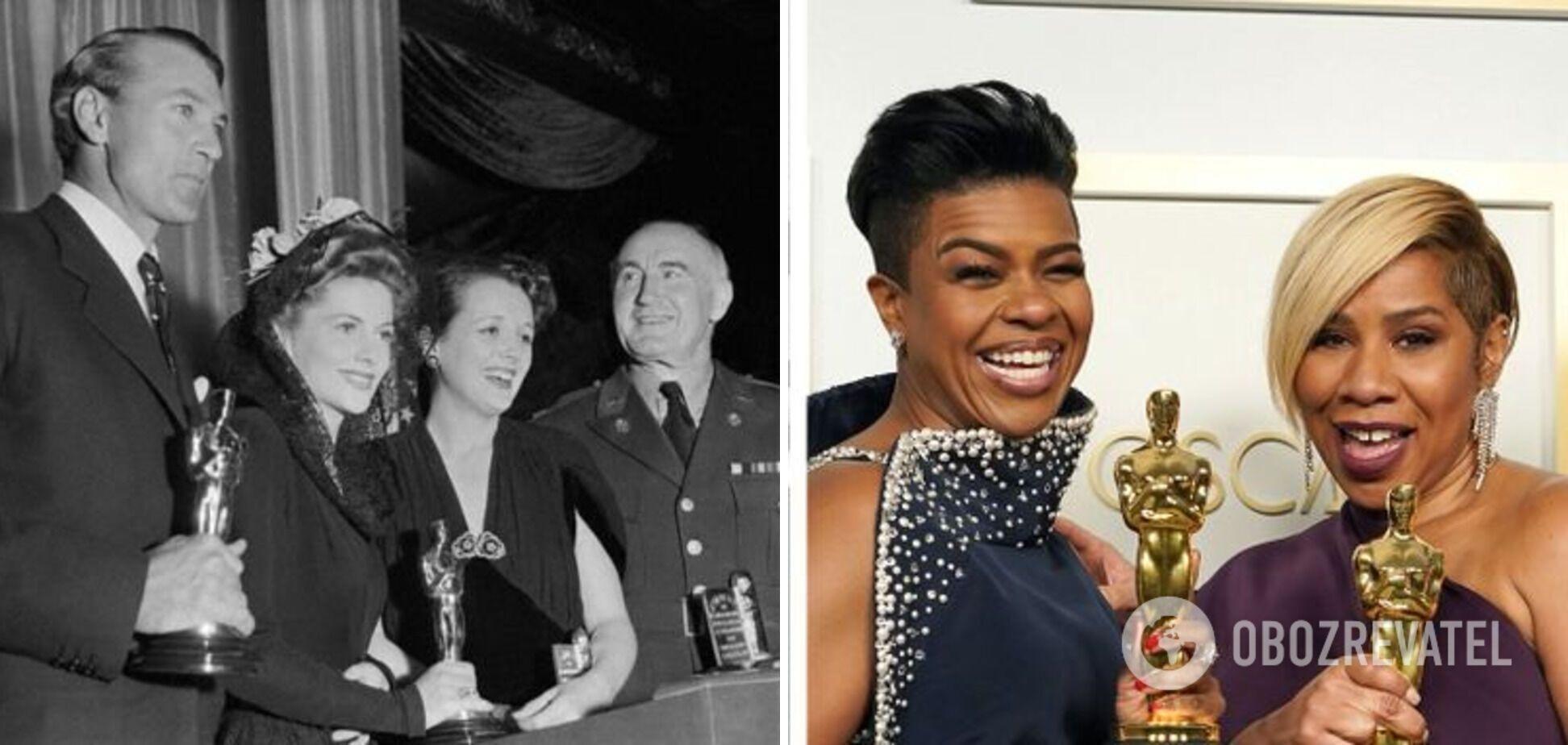 "Церемония премии ""Оскар"" в 1942 и в 2021 году."