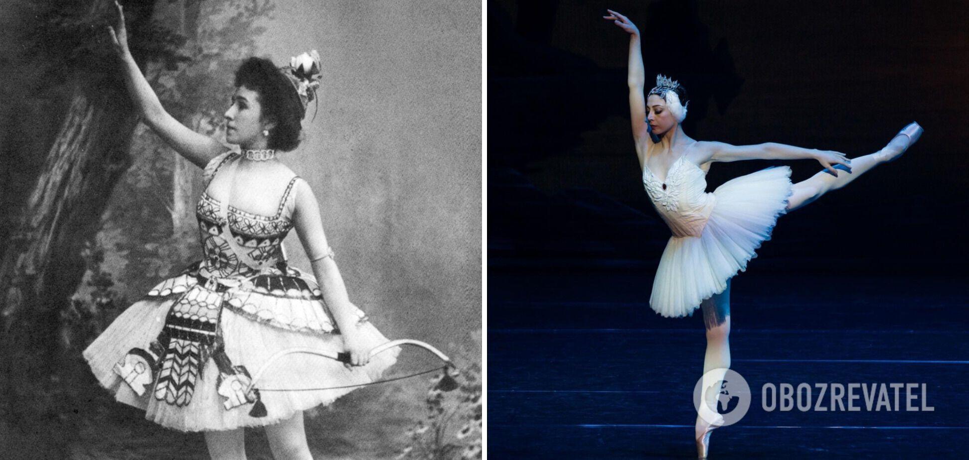 Балерина в XX веке и современная артистка театра.