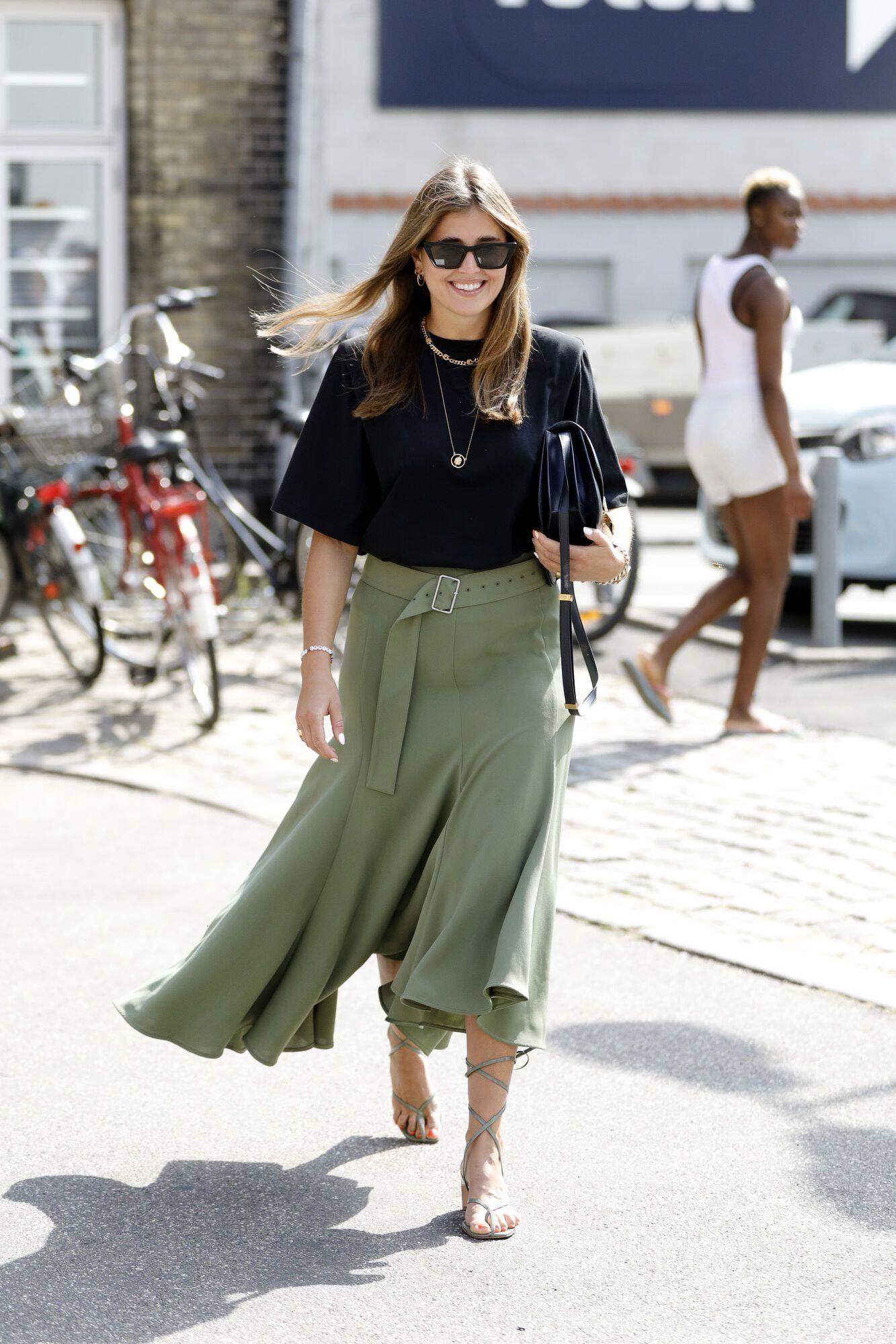 Модная ассиметричная юбка