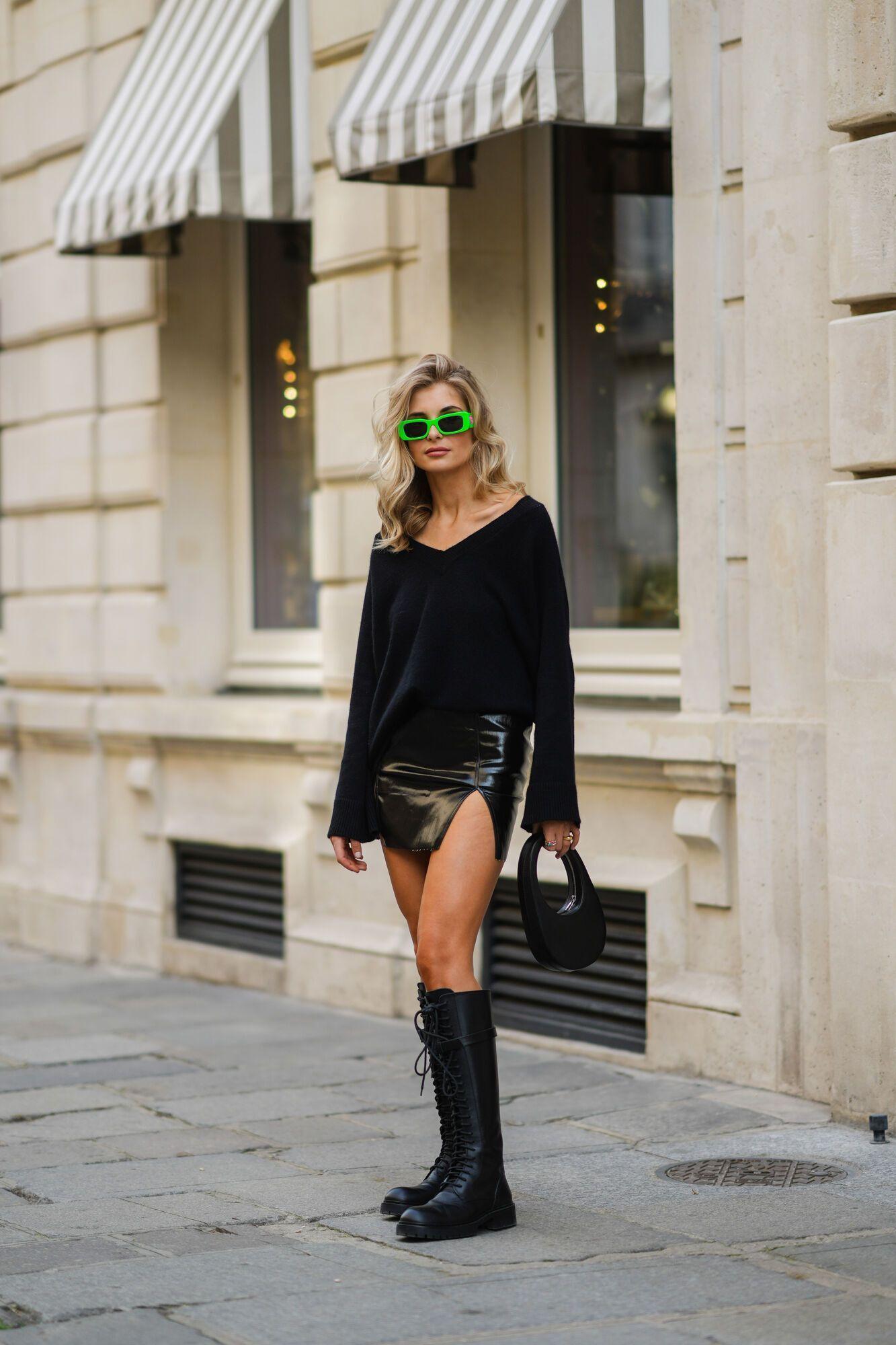 Модная юбка длины мини