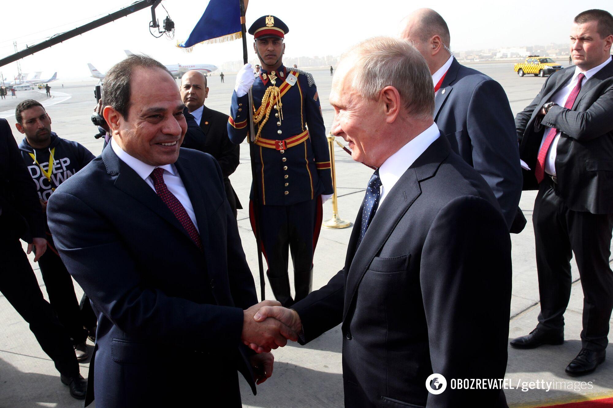 Зустріч президента Росії та президента Єгипту в Каїрі, 2017 рік.