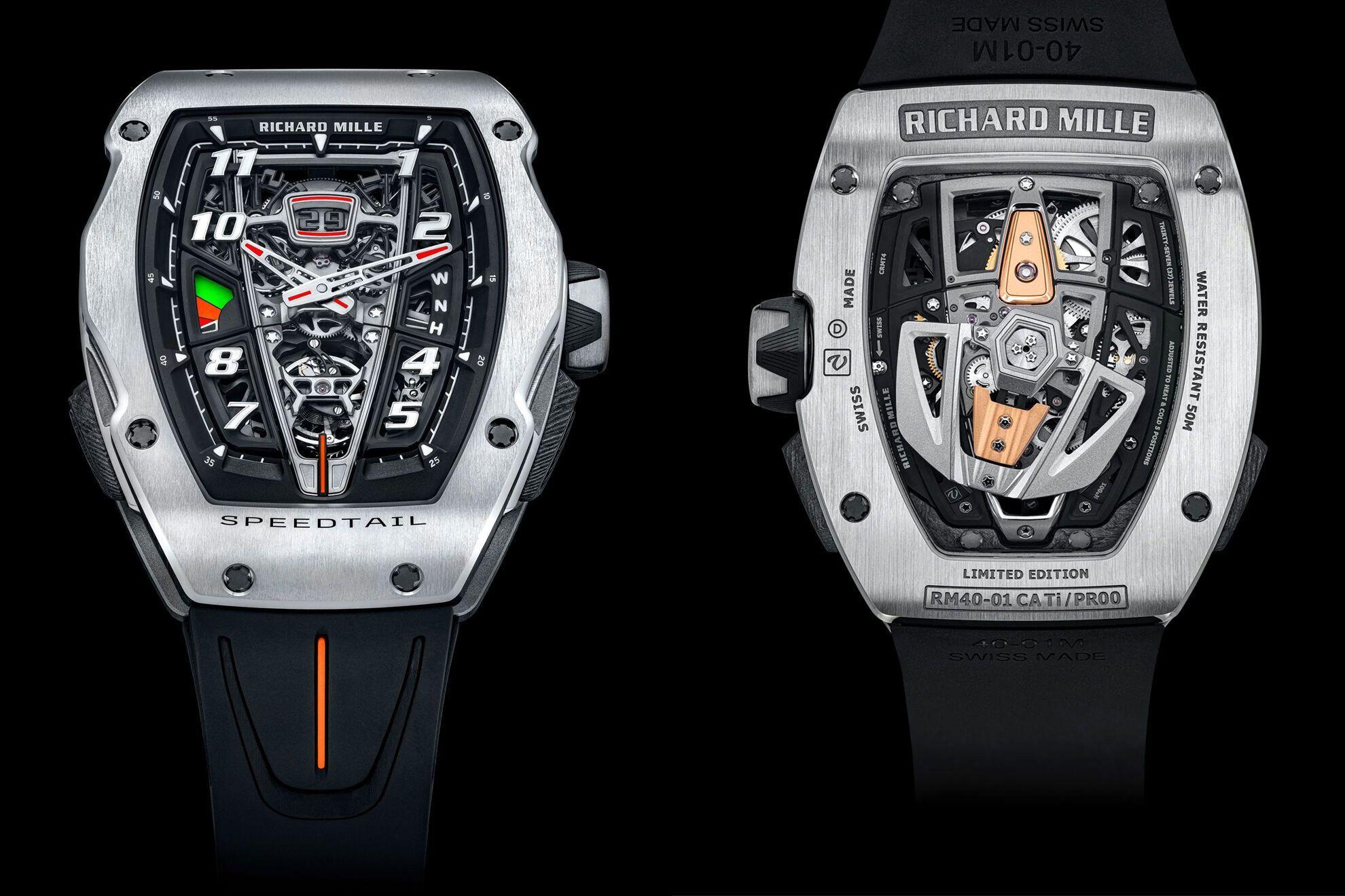 Годинники RM 40-01 Automatic Tourbillon McLaren Speedtail обійдуться власникові у мільйон доларів