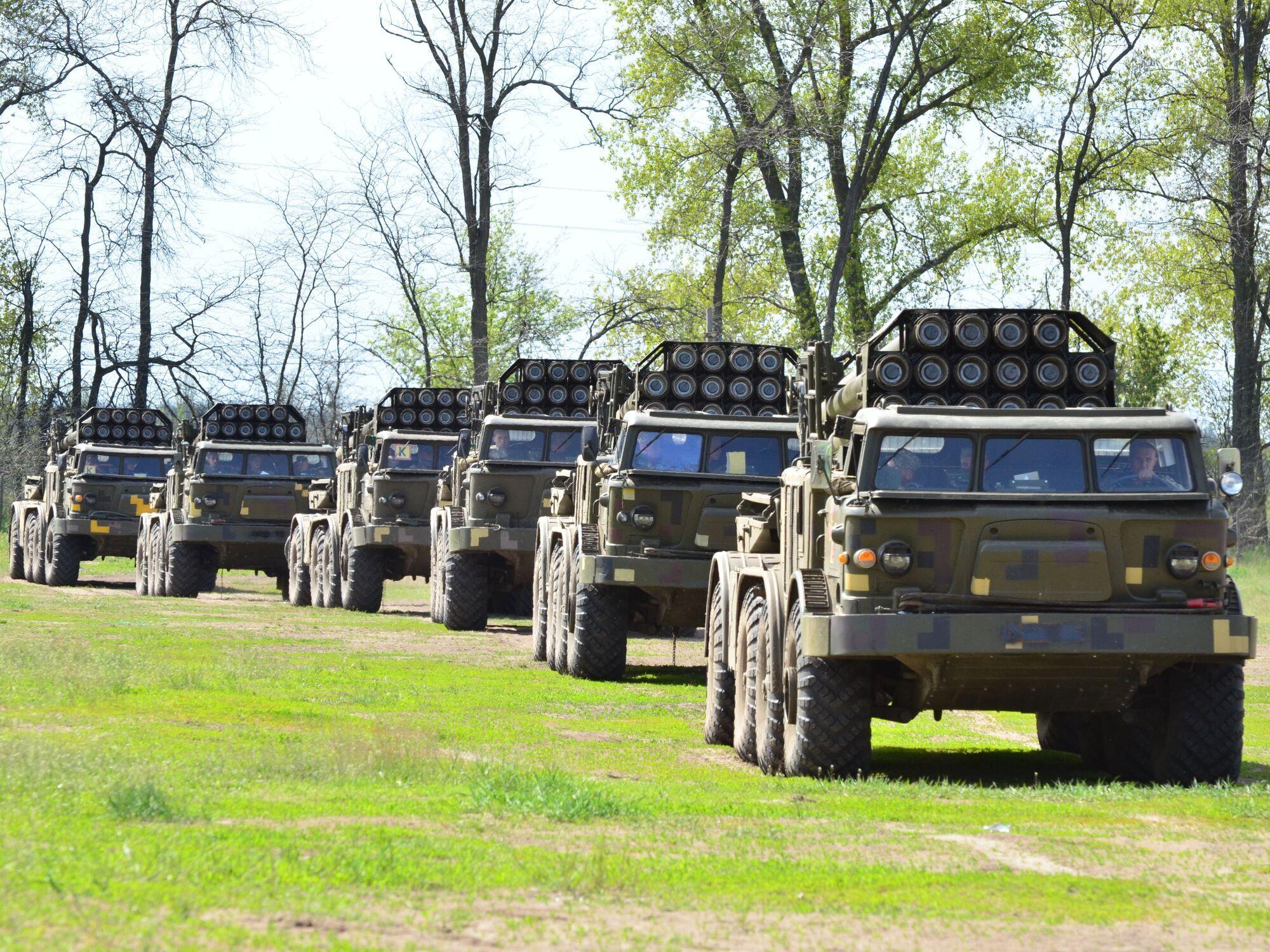 Навчання ЗСУ з реактивною артилерією у Криму