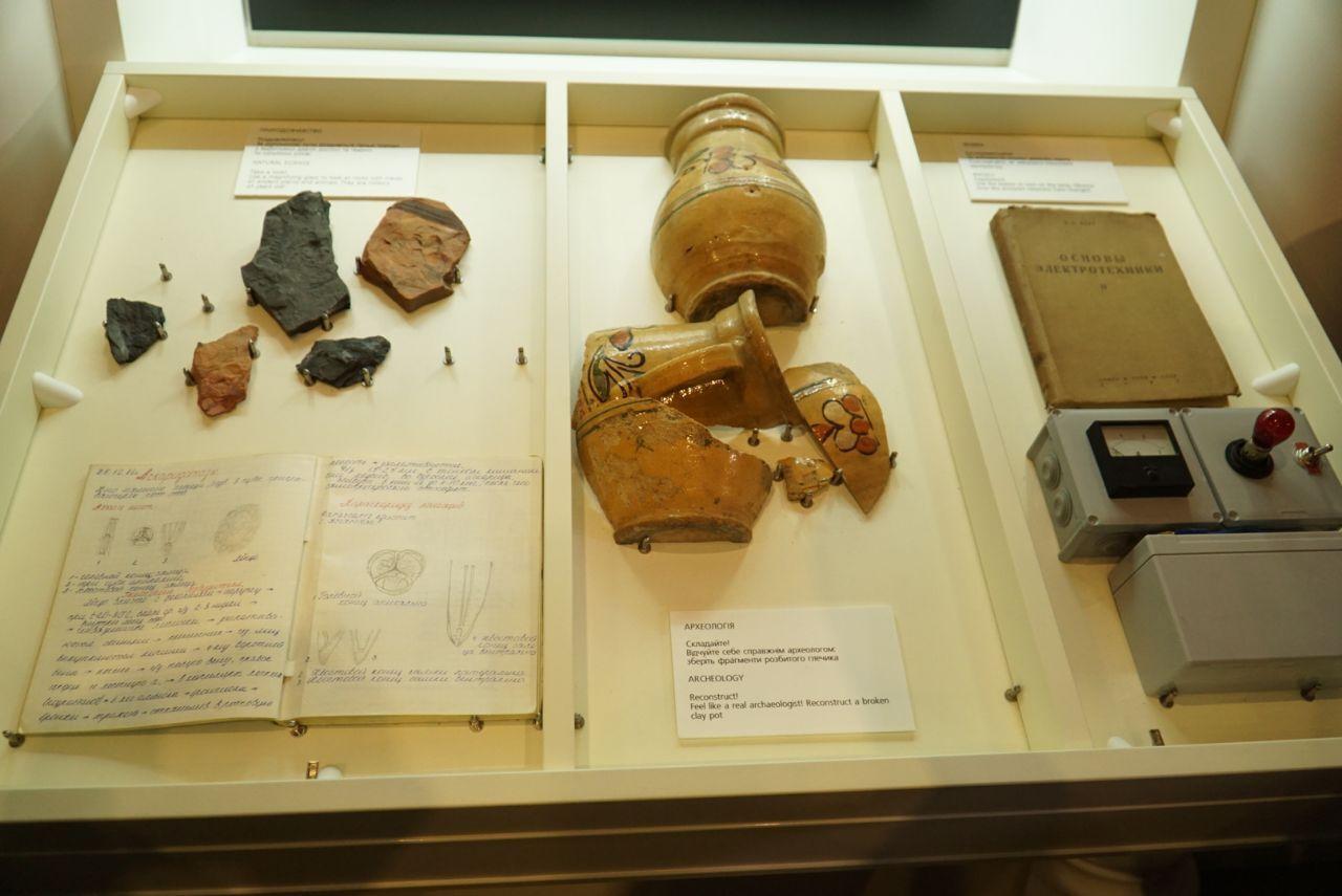 Экспонаты в Музее истории